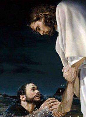 Jesus si da la mano