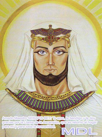 llama blanca de la ascension de Serapis Bey