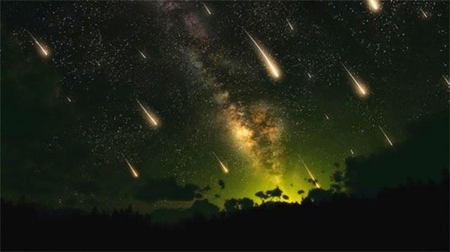 dos lluvias de meteoritos