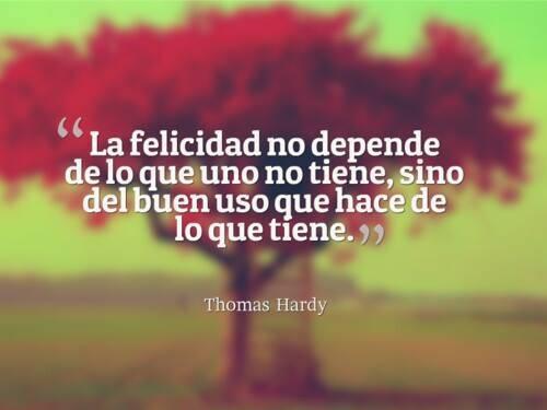 La felicidad no depende
