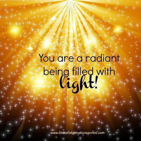 Tu eres un ser radianate lleno de luz