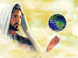 Jesus con el mundo en sus manos.