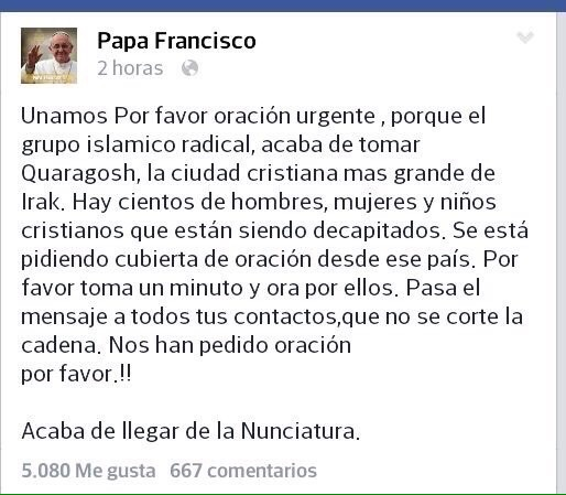 pAPA fRANCISCO 2 HORAS