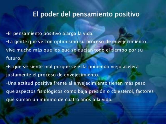 El poder del pensamiento positivo