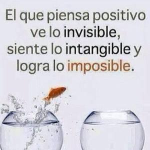 El que piensa positivo