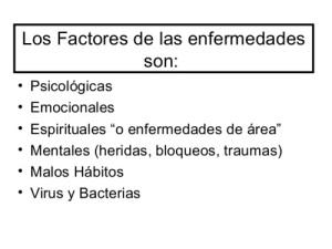 lOS FACTORES DE LAS ENFERMEDADES