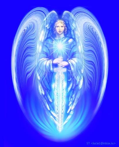 Arcangel miiguel en azul