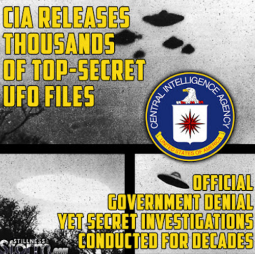 Cia rekeases if top secrets ufo files