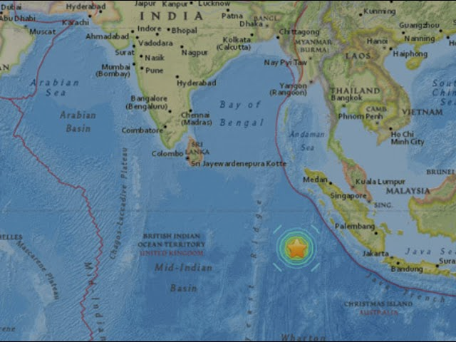 Large quake Tsunami warning