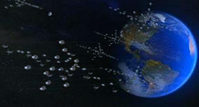 Esferas llegando al Planeta