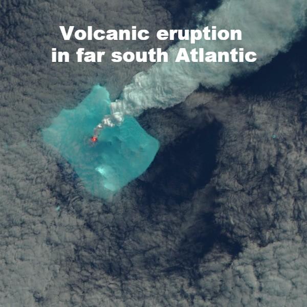 Volcanic eruption of the atlantic