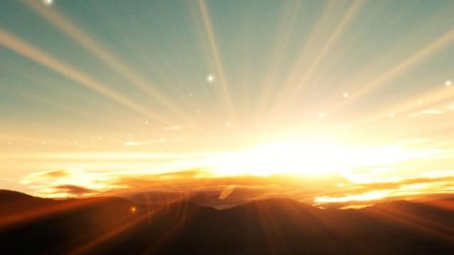 Luz llegando a la Tierra