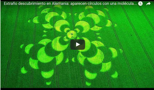 Crop circle con la molecula del cancer