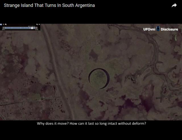 Extrana Isla esferica se muee en Argentina