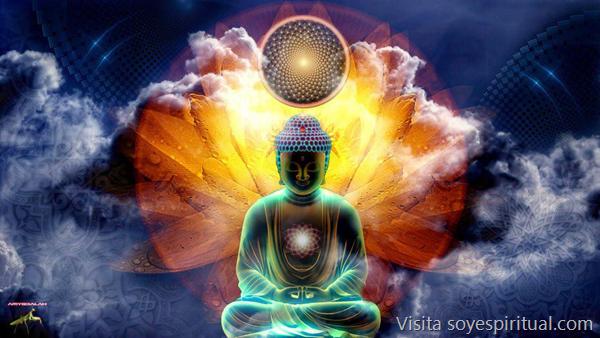 Buda con mundo