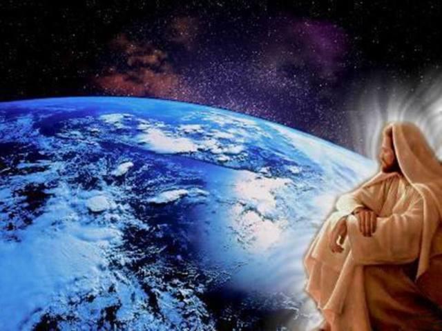 jesus observando el planeta