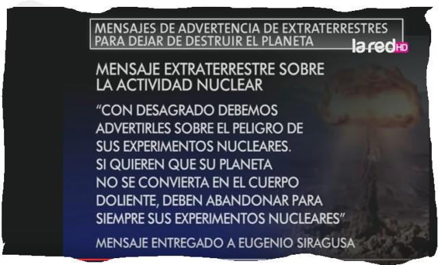 Mensaje de Eugenio Siragusa
