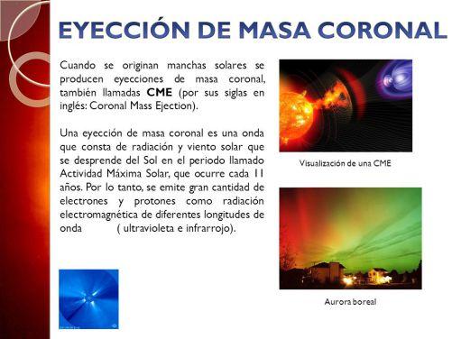 Eyeccion de masa coronal
