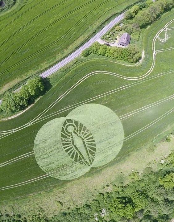 Crop Circle Italia, pare ce Virgen de Guadakuoe
