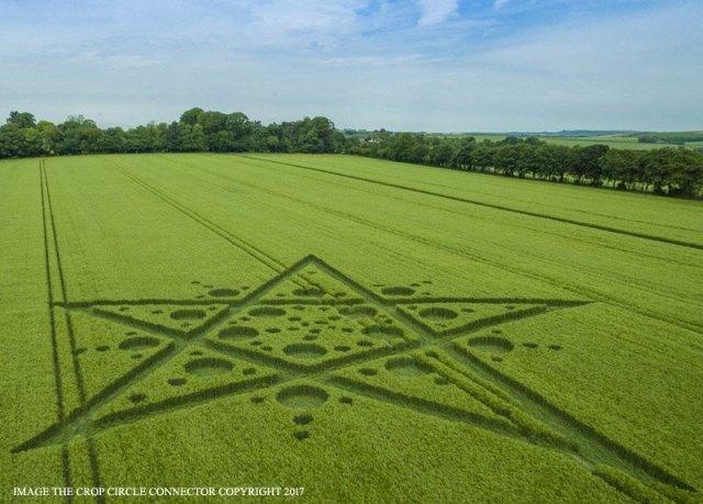 Crop Circle Pentagrama