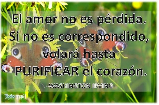 El amor no es perdida ni no es correspondido