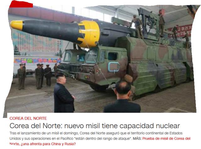 Korea- nuevo misil con capacidad nuclear