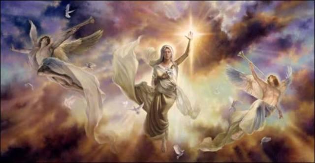 Las diosas bendiciendo