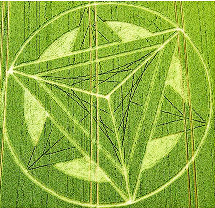 Crop Circle de Inglaterra Merkaba