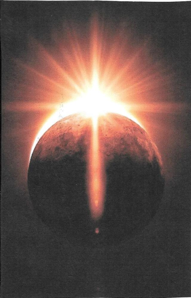 ScanCruz formada en luz en la Tierra