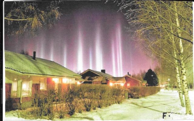 Pilares de Luz en Finlandia