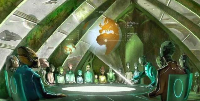 Deferentes civilizaciones en reunion