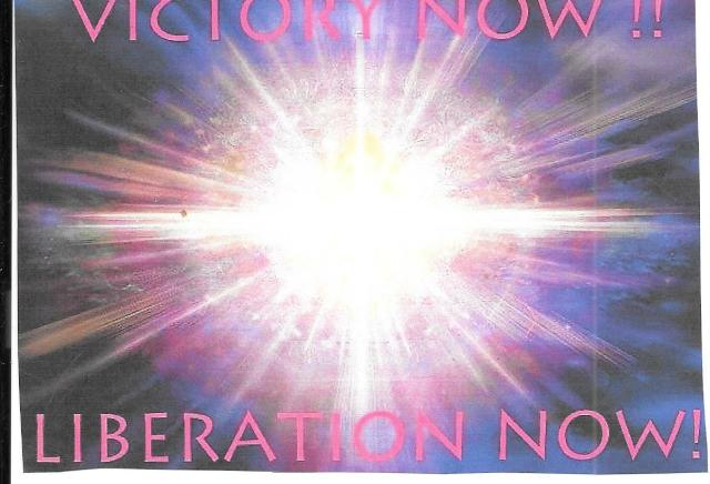 Victory Now Lliberation Now.