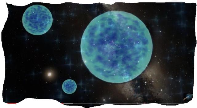 Esferas azules en nustro Planeta