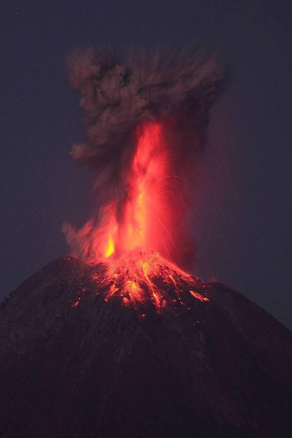 Popocatepel en erupcion