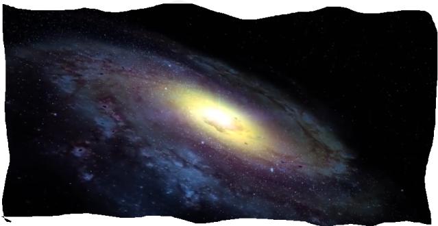 La galaxia con dos brazos